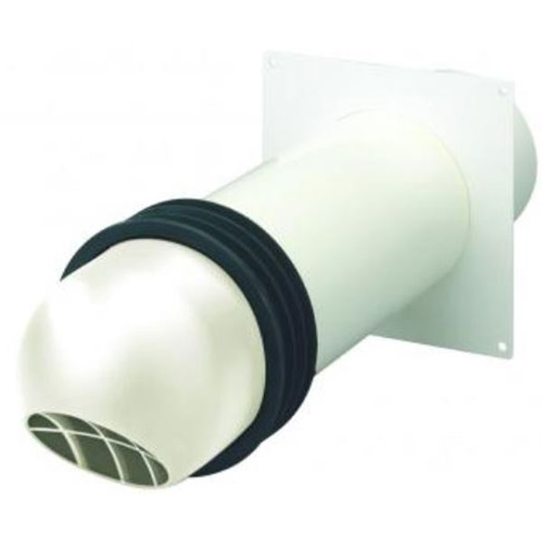High Rise Round Cowled Kit 150mm - White (Cut Out Size 167mm)...
