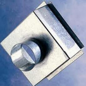 300x300x200mm Plenum Box Galvanised Top Entry