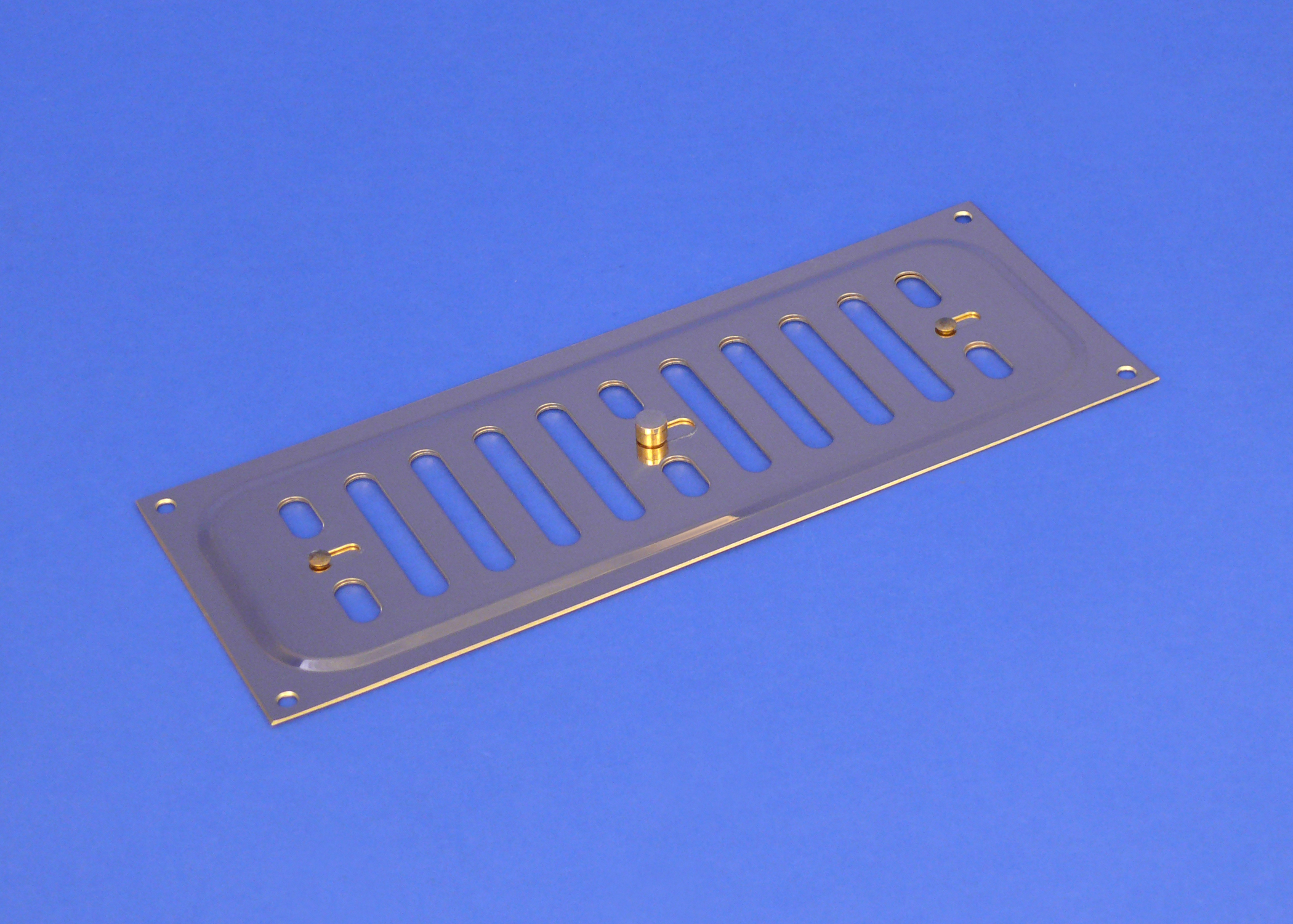 RYTONS 9X3 SOLID BRASS HIT & MISS VENTILATION GRILLE