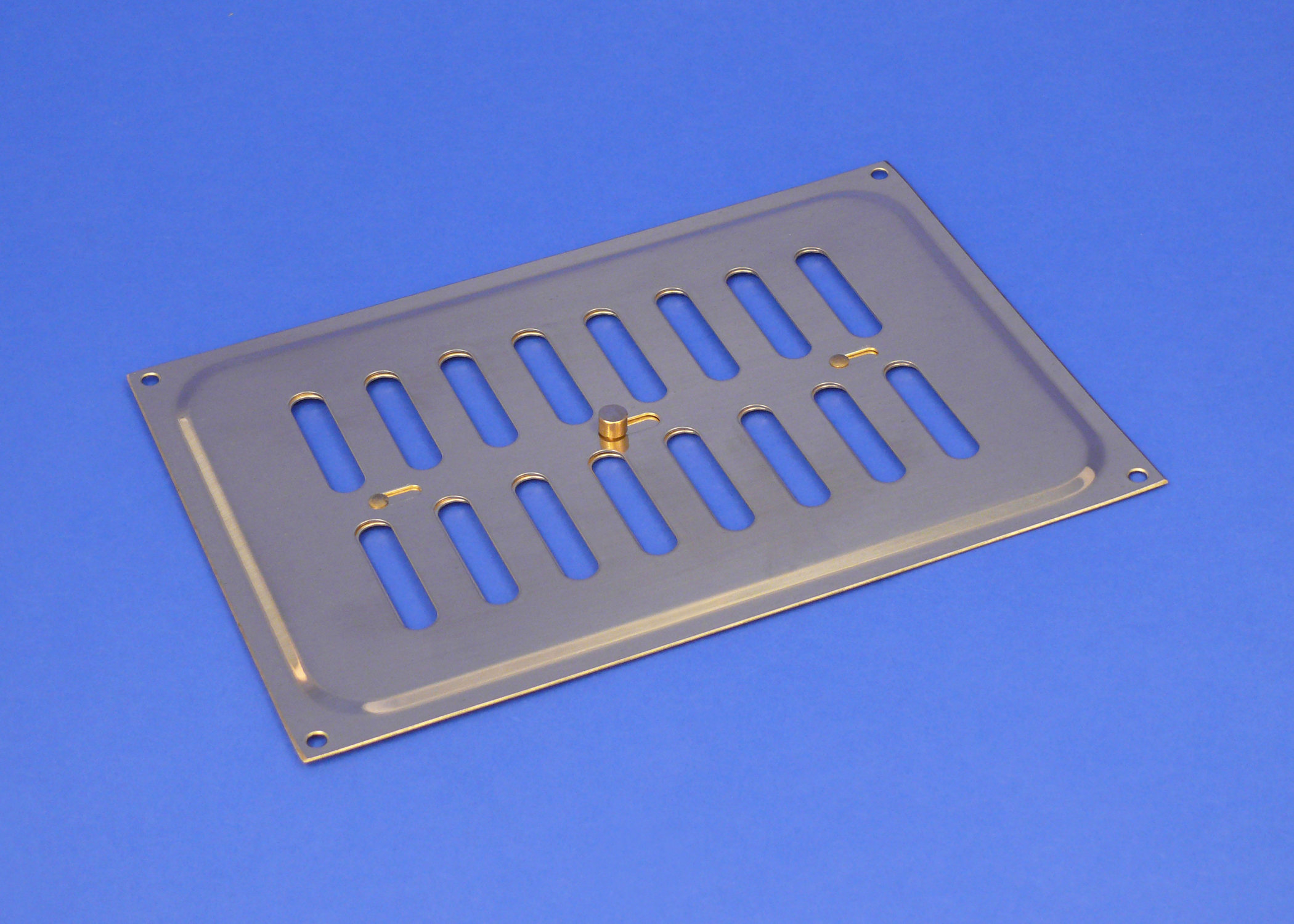 Rytons 9X6 Solid Brass Hit & Miss Ventilation Grille