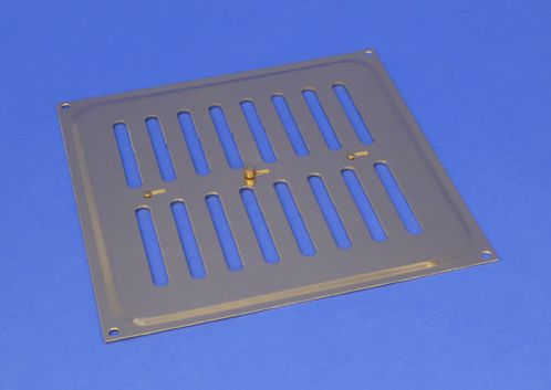 RYTONS 9X9 SOLID BRASS HIT & MISS VENTILATION GRILLE