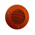 Icon External Grille 100mm Dia - Terracotta (72596201)