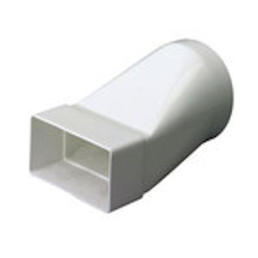 ROUND TO RECTANGULAR ADAPTER - LONG