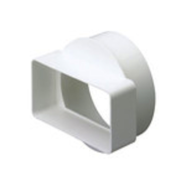 Round To Rectangular Adapter - Short