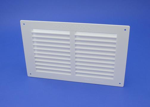 9X3 LOUVRE VENT GRILLE FLAME RETARDANT WITH FLYSCREEN -WHITE