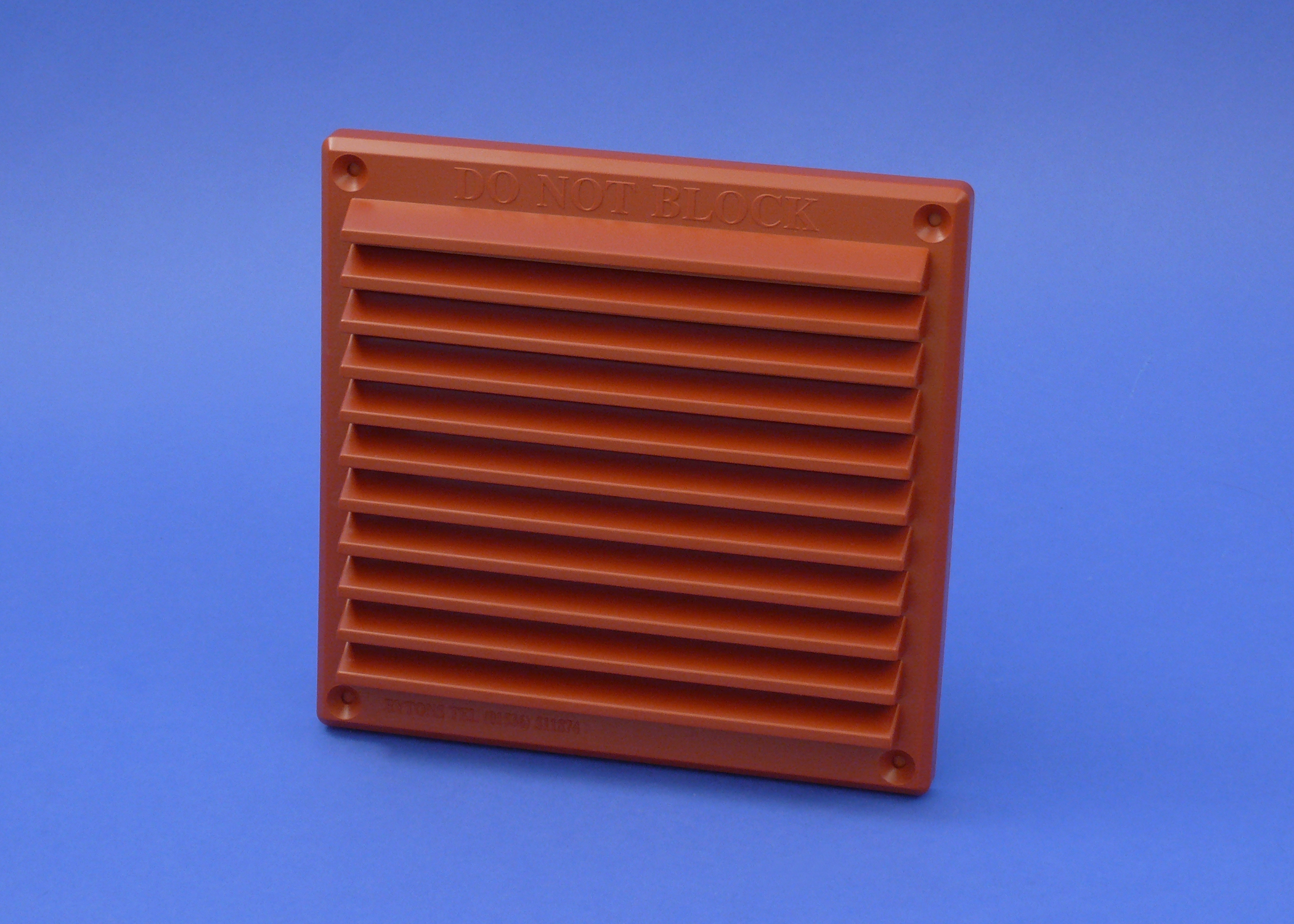 RYTONS 6X6 LOUVRE VENTILATION GRILLE - TERRACOTTA