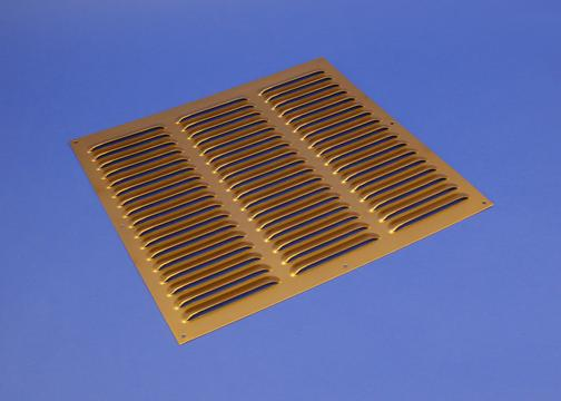 Rytons 12X12 Brass Anodised Aluminium Louvre Vent Grille