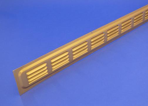 Rytons 26X2 Brass Anodised Aluminium Door Ventilation Grille