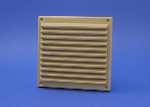 RYTONS 6X6 LOUVRE VENT GRILLE WITH FLYSCREEN - BUFF-SAND