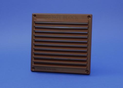 RYTONS 6X6 LOUVRE VENTILATION GRILLE WITH FLYSCREEN - BROWN