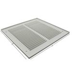 Pressed Steel Grille - 33G - White - 150X150mm