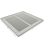 Pressed Steel Grille - 33G - White - 200X200mm