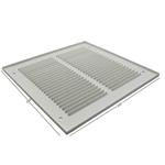 Pressed Steel Grille - 33G - White - 250X250mm