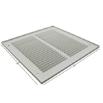 Pressed Steel Grille - 33G - White - 300X300mm