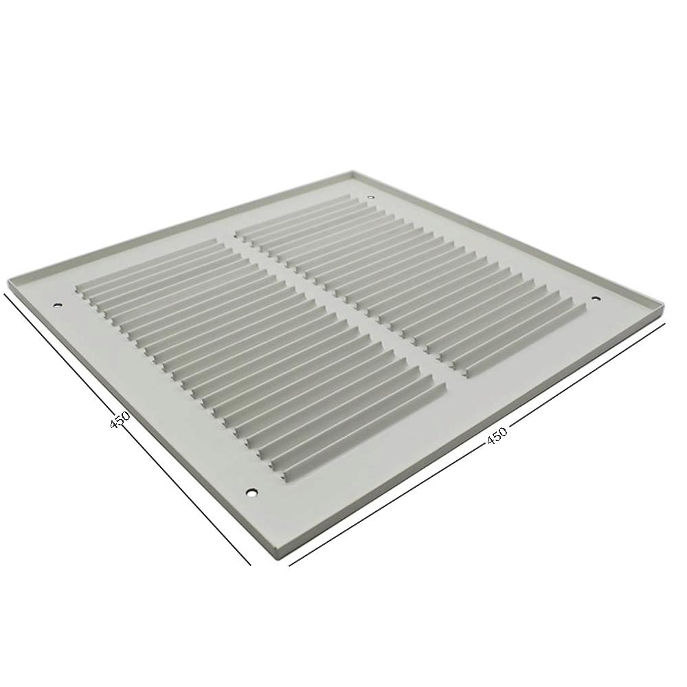 Pressed Steel Grille - 33G - White - 450X450mm