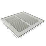 Pressed Steel Grille - 33G - White - 500X500mm
