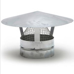 Galvanised Roof Cowl With Mesh - 100mm