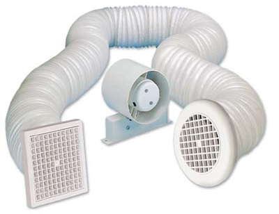 MANROSE SF100S KIT - FAN AXIAL SHOWER STD - 100MM 4IN