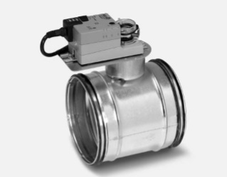 Motorized Shut-Off Damper 160mm With Electric Motor LM24AF