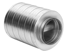 Straight Circular Silencers - 100mm Baffle & 100mm Insulation (SLBU)