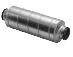 Straight Circular Silencers - 50mm Insulation (SLU)