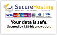 Secure card payments provided by securehosting.com