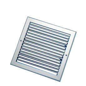 500X500mm Silver Single Deflection Grille With Damper