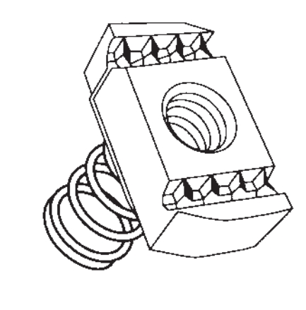 Channel Slide Nut M10 - Short Spring - Pack Of 100