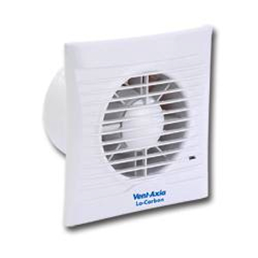 VENT AXIA LO-CARBON SILHOUETTE 100B FAN - 100MM - WHITE