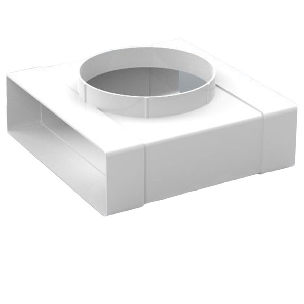 Kair 204x60mm Rectangular T-Piece with fixed 125mm Spigot