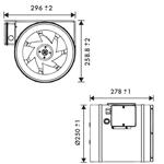 Vent Axia ACM250 In Line Fan 250mm