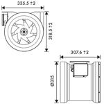 Vent Axia ACM315 In Line Fan 315mm