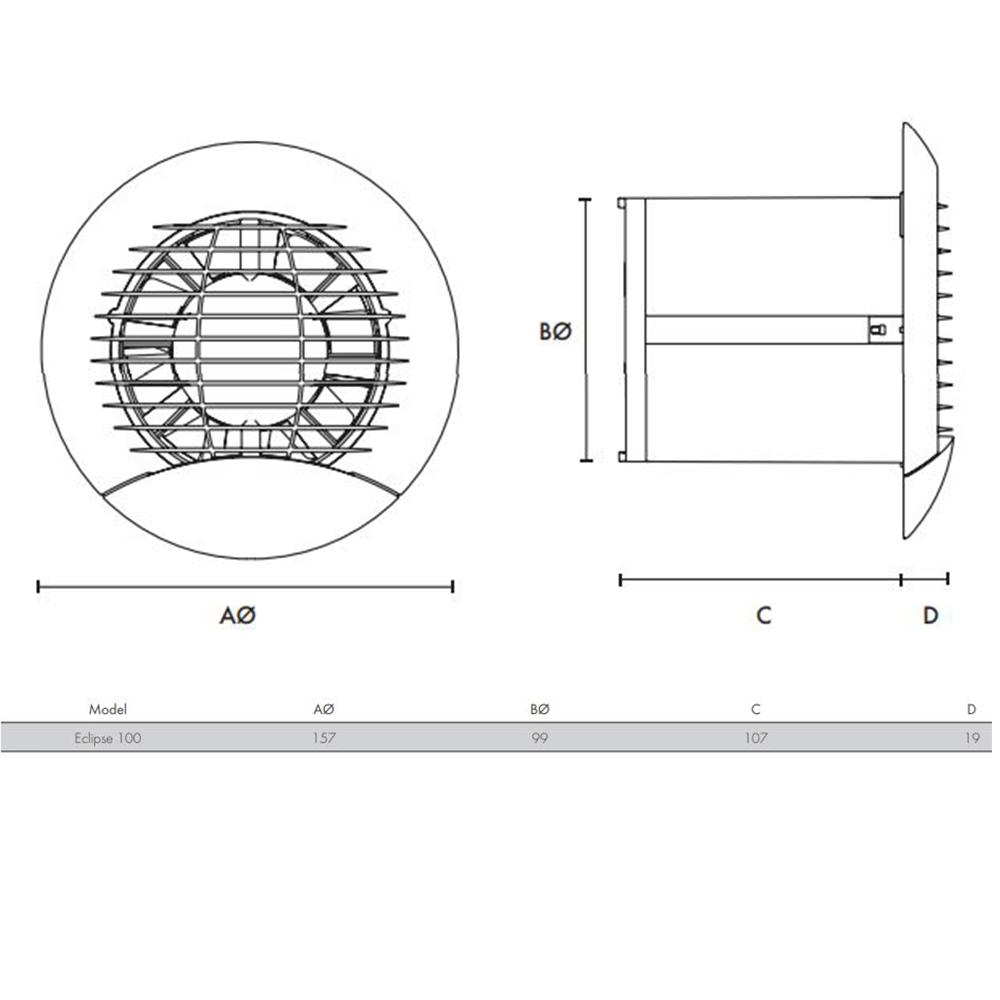 NEW STOCK EXPECTED W/C 03/05/2021 - Vent Axia Freshvent 100 Passive Ventilator (453200) 100mm