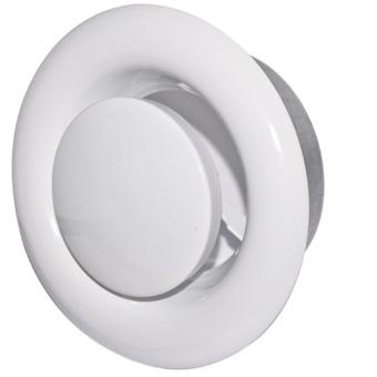 White Metal Extract Valve - 200mm - Galku-200  (Requires Fixing Collar Galkm-200)