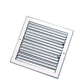 600X500mm White Single Deflection Grille With Damper