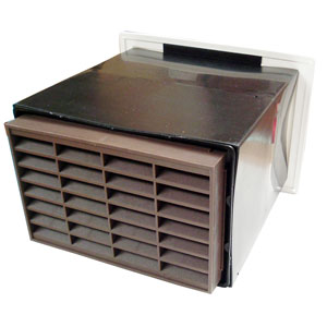 Double Airbrick Vario Vent  - Rustic Brown