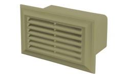 Blauberg Flat Plastic Air Brick - 110x54mm - Cotswold Stone