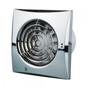 150mm Blauberg Calm Low Noise Energy Efficient Kitchen Extractor Fan Chrome - Humidity