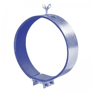 Blauberg Circular Fast Clamp Foam Backed Duct Fan Connector - 100mm 4 Inch Dia