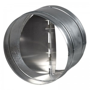 Blauberg Circular In Line Back Draught Shutter Butterfly Action - 100mm 4 Inch
