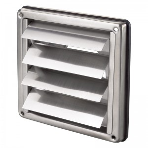 Stainless Steel Wall Shutter - Blauberg Back Draught Excluder Flap Grille Duct Outlet...