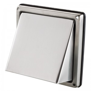 Stainless Steel Wall Vent - Blauberg Circular Cowled Wall Shutter Grille Duct Outlet ...