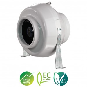 Blauberg In Line Centro Ec Centrifugal Tube Extractor Fan with Ec Motor - Duct M...