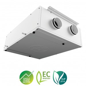 Blauberg EC DB-160 MVHR Slimline Low Profile Ceiling Void Mounted Heat Recovery Venti...