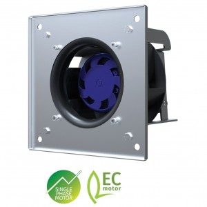 Blauberg GL-B190B-EC-01 EC Zentri-PAC Backward Curved Plug Fan with Casing, 190mm Dia