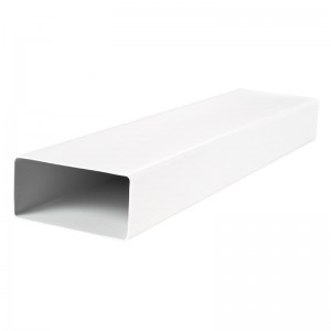 220x90mm Blauberg Flat Rectangular Plastic Ventilation Air Ducting - 1m long