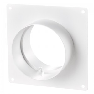 Blauberg Ventilation Round Circular Ducting Wall Mounting Plate with Spigots - 100mm ...