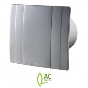 100mm Blauberg Quatro High Tech Designer Bathroom Extractor Fan Brushed Metal - Stand...