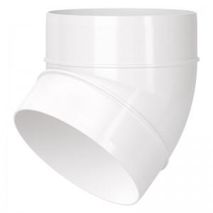 Blauberg Circular Round Plastic Ventilation Duct 45 Degree Elbow Bend - 4 Inch 100mm