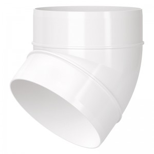 Blauberg Circular Round Plastic Ventilation Duct 45 Degree Elbow Bend - 6 Inch 150mm